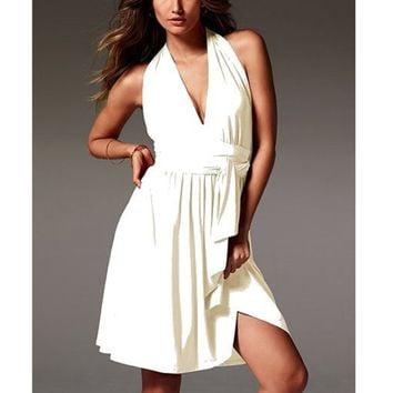 Fashion Casual Beach Chiffon Sleeveless Mini Dress