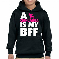 a chihuahua is my bff t shirt design 1 Youth Hoodie