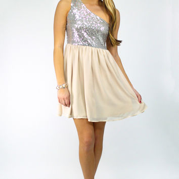 City Sparkle Dress - Silver