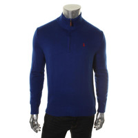 Polo Ralph Lauren Mens Ribbed Trim Long Sleeves Pullover Sweater