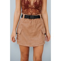 Click It Or Ticket Skirt (Brown)