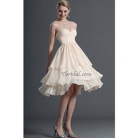 A-Line Sweetheart Knee-length Chiffon Prom Dress SAL1096