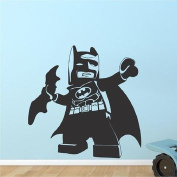 Batman Dark Knight gift Christmas Wall Art Decals Cute Lego Batman Kids Bedroom Viny Removable Wall Stickers Home Decor Room Bedroom Perfect Quality home decal AT_71_6