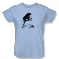 James Dean - Picture This Too Womens T-Shirt In Light Blue