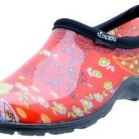 Sloggers 5104RD07 Womens Garden Shoe, Paisley Red, Size 7