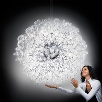 Crystal chandelier Astro Collection by Metal Lux di Baccega R. & C.