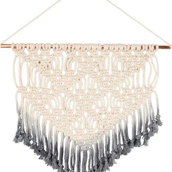 Macrame Small V-Shaped Dip-Dye Boho Wall Decor