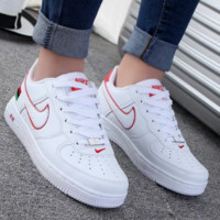 Women Men NIKE Running Sport Casual Shoes Sneakers Low tops shoes White red hook