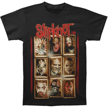 Slipknot Men's  New Masks Chapter T-shirt Black Rockabilia