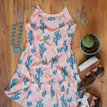Blushing Cactus Dress