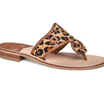 Safari Haircalf Sandal in Leopard by Jack Rogers