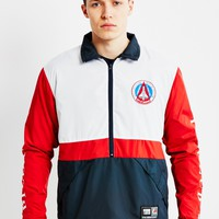 Billionaire Boys Club BBC X Majestic Team Warm Up Jacket Navy/Red at The Idle Man