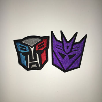 Transformers Autobots Optimus Prime Decepticons patch Cartoon patch patch Applique embroidered patches iron on patch sew on patch