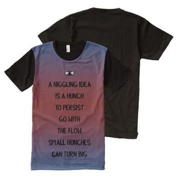 Hunch Quote by Kat Worth Men's All-Over-Print T-Shirt