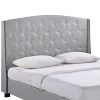 Lydia Queen Bed Frame in Gray