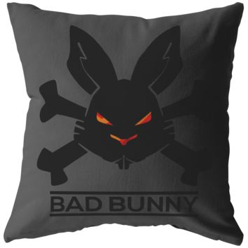 Bad Bunny Funny Novelty Pillow