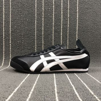 Original Asics Onitsuka tiger MEXICO 66 Women Men Sport Shoes Running Black