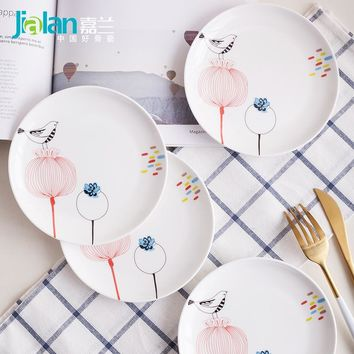 Bone China Bird Dinnerware Dinner Plates Dishes White Plate Holiday Kitchen Plates Sets
