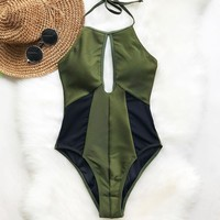 Hear The Lullaby Mesh One-piece Swimsuit