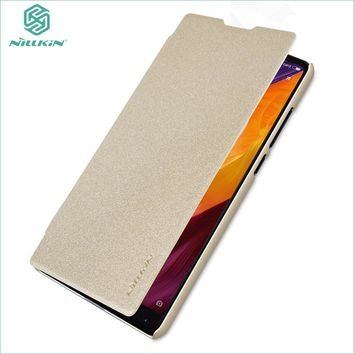 For Xiaomi Mi Mix 2 Mix2 Case Nillkin Smart Case For Xiaomi mi mix 2 Hight Quality Leather Flip Case Sleep Function For Mi Mix 2