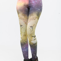 Galaxy Lion Print Leggings