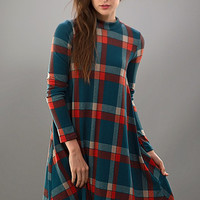 Fall Frame of Mind Plaid Dress