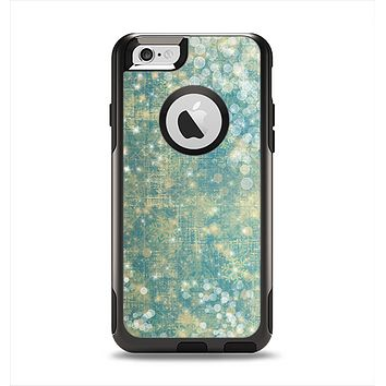 The Unfocused Green & White Drop Surface Apple iPhone 6 Otterbox Commuter Case Skin Set