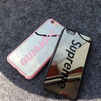 Supreme Sliver Mirror Case For Iphone 7 5 5s 6 6s 6Plus 6s Plus Great Gifts