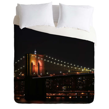 Leonidas Oxby Brooklyn Bridge 2 Duvet Cover