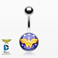 Retro Wonder Woman Basic Belly Button Ring