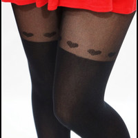 Sandysshop — Fake Thigh-high Stockings with Heart