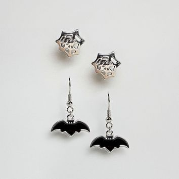 ASOS Halloween Pack of 2 Creepy Earrings at asos.com