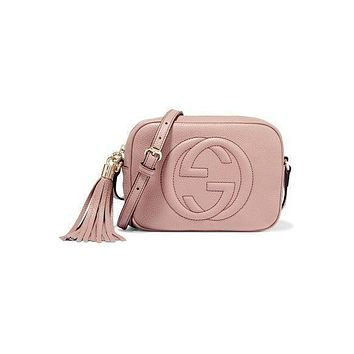 Gucci Fashion Hot Selling Lady Liuzhou Big Double G Single Shoulder Bag Red Pink