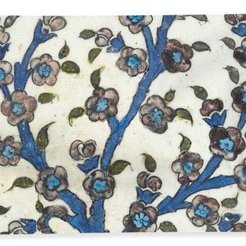 An Ottoman Dmascus Style Floral Design Hexagonal Pottery Polychrome, By Adam Asar, No 12b - Bath Towel