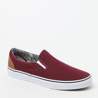 Vans Burgundy CandL Slip-On Shoes at PacSun.com