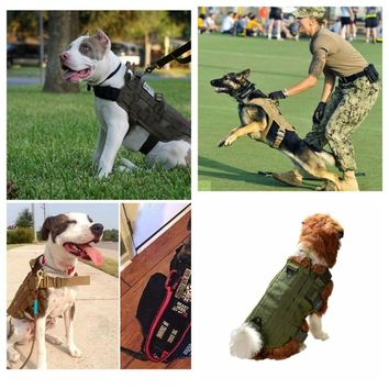 Outdoor Military Hunting Dog Clothes Tactical Training Dog 600 Nylon Vest Packs Coat Load Bearing Hunting Vests 4 Color S-XL