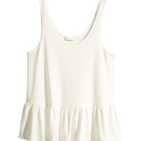 Top with Ruffled Hem - from H&M