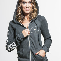 Namaste Hamsa Zip Hoodie by SPIRITUAL GANGSTER - OUTERWEAR & SWEATS