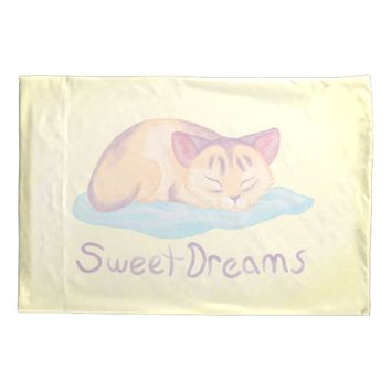 Dreaming Kitten Pillowcase