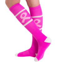 Pink Breast Cancer Socks - Made in the USA