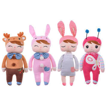 Metoo Dolls Angela rabbit 35cm baby plush toy doll sweet cute stuffed toys Dolls for kids girls Birthday/Christmas Gift