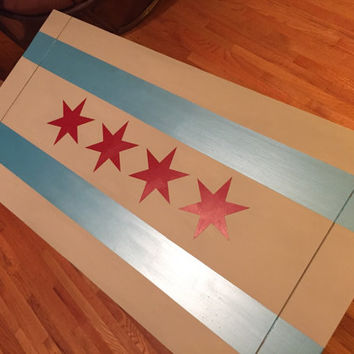 Chicago Hand Painted Coffee Table - LOCAL PICK UP!!
