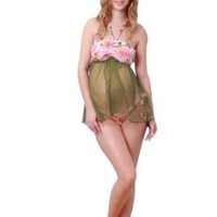 Flower Print 2 way maternity Swimsuit