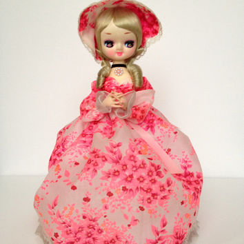Vintage Pink Big Eye Bradley Doll
