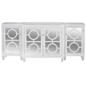 Worlds Away Ava White Lacquer Buffet