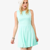 Ribbed Mesh Sleeveless Dress