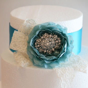 Tiffany Blue Wedding Cake Decorations, Tiffany blue  Wedding Accessory, Vintage, Beach wedding idea, Baby shower