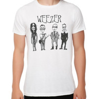 Weezer Cartoon Band T-Shirt