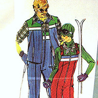 Womens Ski Suit Sewing Pattern Misses size 12 UNCUT Ski Jacket with or without Sleeves, Ski Jumpsuit