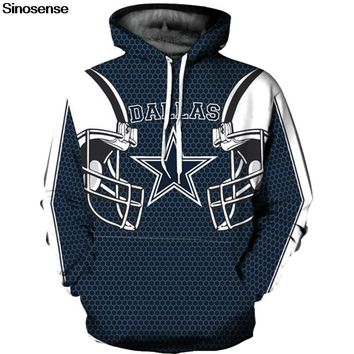 Dallas Cowboy 3D Hoodie Hoodies Men Women Fashion Hip Hop Streetwear Pullover Hoody Tops 2018 Autumn Winter Plus Size Clothing